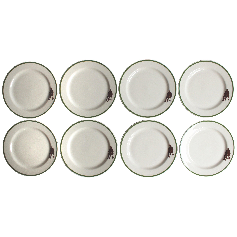 Set of Eight Homer Laughlin Plates