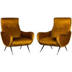 Pair of Lounge Chairs by Marco Zanuso