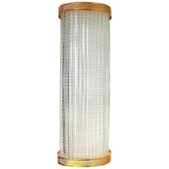 Overscale Laudarte Murano Glass Sconce with Gold-Plated Trim, Pair Available