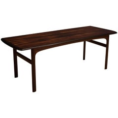 Scandinavian Rosewood Coffee Table by Westnofa
