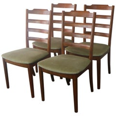 Set of Four Midcentury 1970s G Plan Dining Chairs