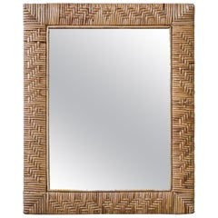 1950s Rattan Mirror Made in Finland