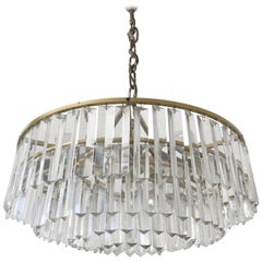 Crystal Glass Chandelier or Pendant Lamp by Bakalowits & Söhne, Vienna, 1950s
