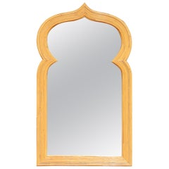 1970s Arabian Arched Bamboo Mirror