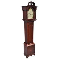 New England Clock Co. Mahogany Inlaid Grandmother Clock Case
