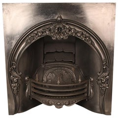 Early Victorian Ornate Antique Arched Register Grate, 19th Century