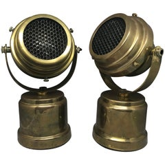 Pair of Midcentury Brass Spotlights