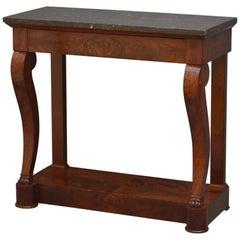 Elegant Regency Mahogany Console Table