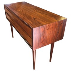 Arne Vodder Danish Rosewood Two-Drawer Side Table