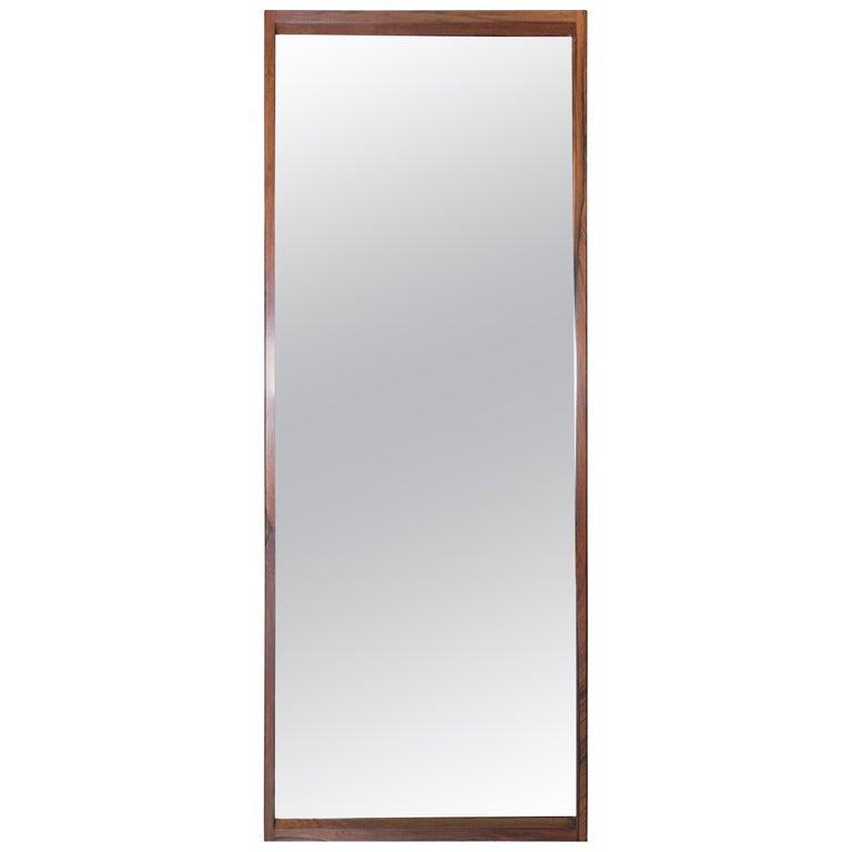 Model 145 K Danish Rosewood Wall Mirror by Aksel Kjersgaard