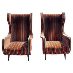 Pair of Mid-Century Modern Wingback Chairs
