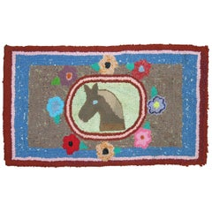 American Hooked Pictorial Horse Rug