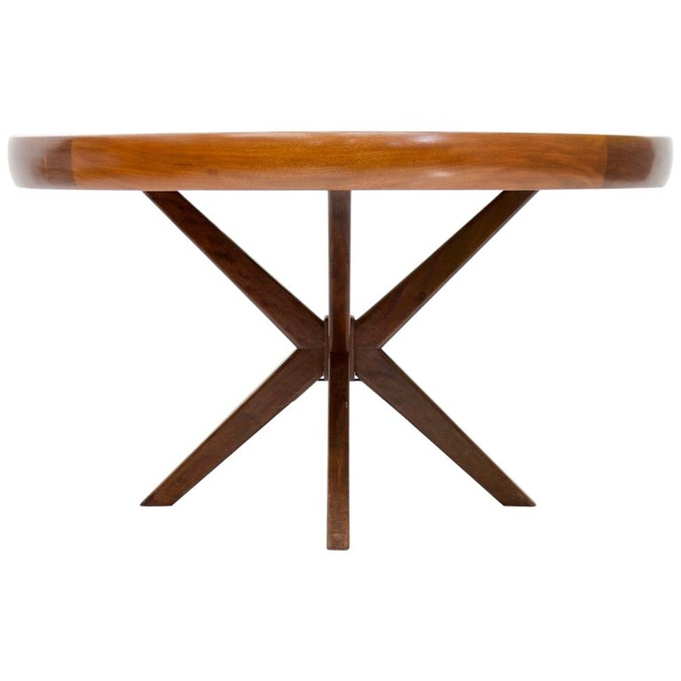 Round Dining Table from Brazil, 1960s