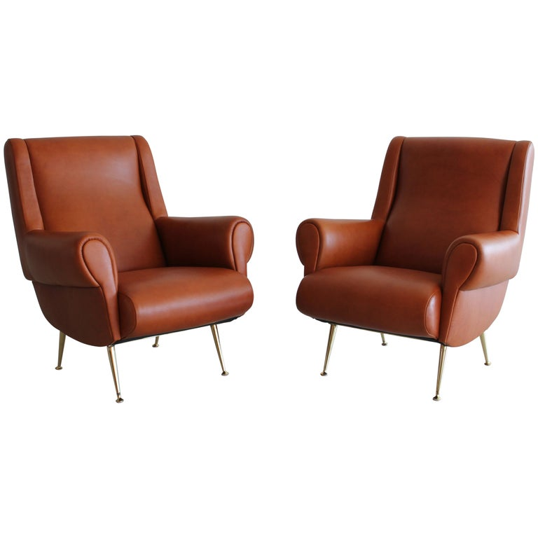Italian Leather Club Chairs