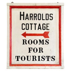 Hand-Painted Tourist Trade Sign, circa 1920s
