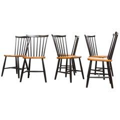 Set of Six Tapiovaara Style Side Chairs