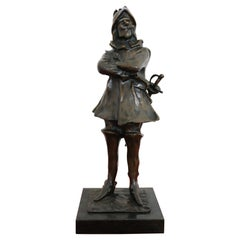 20th Century French Sculpture in Bronze Cyrano De Bergerac Figure, 1940s