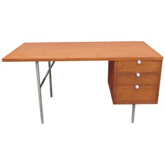 Mahogany and Steel Desk by George Nelson for Herman Miller