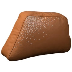 Pita Cushion Medium, Orange Leather