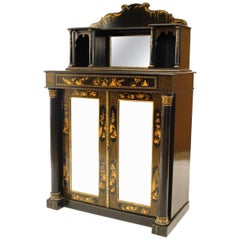 English Regency Style Chinoiserie Design Small Sideboard