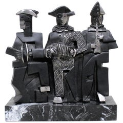 Miguel Guia Sculpture of Three Cubist Musicians