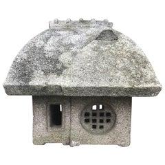 "Japanese Antique ""Minka"" House Stone Lantern, Hand-Carved, Fine Quality"
