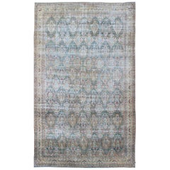 Very Large Antique Persian Lavar Kerman Rug with All-Over Design
