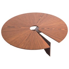 Contemporary Round Coffee Table, Brazilian Design