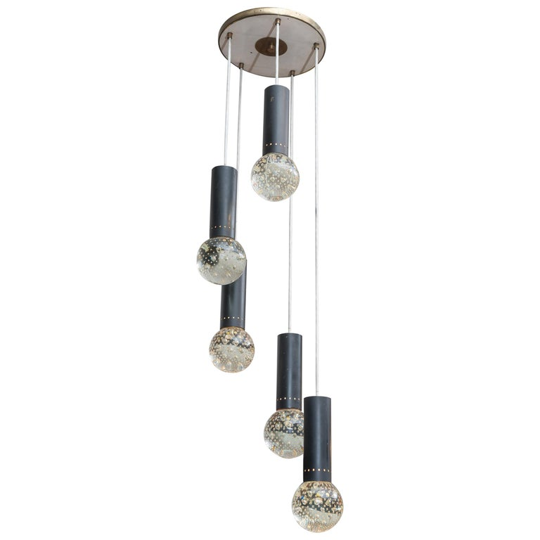 Gino Sarfatti and Archimede Seguso Chandelier for Lightolier For Sale