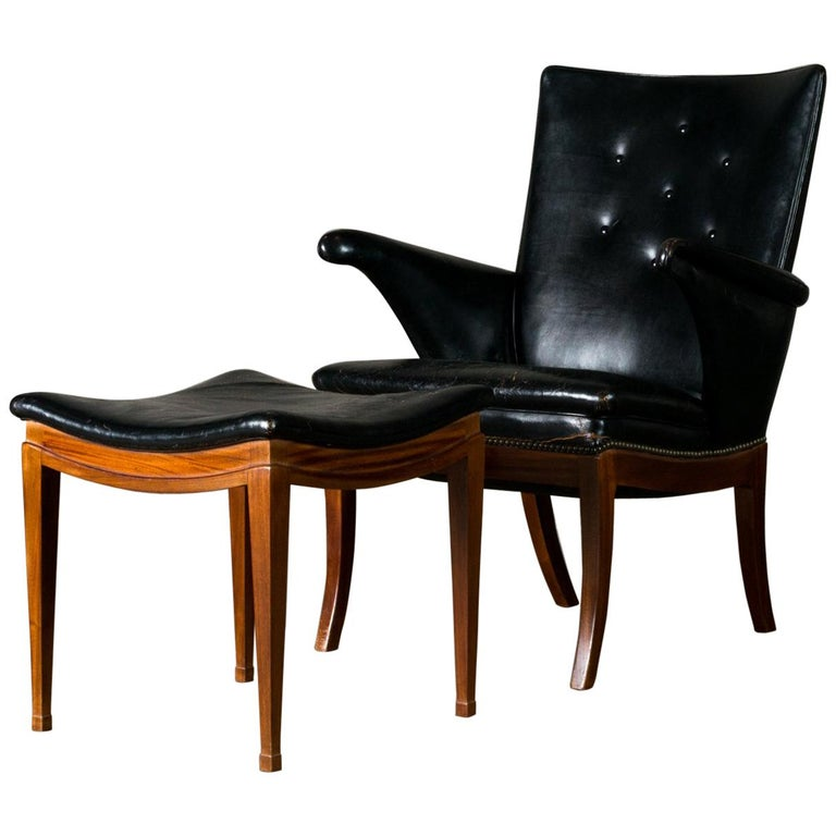 Frits Henningsen Lounge Chair and Ottoman