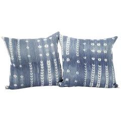 Vintage Blue and White Batik Style Pillows