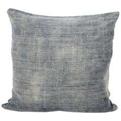Blue Vintage Pillow with Horizontal Seams