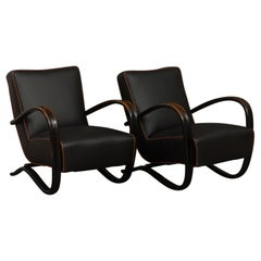 Pair of Halabala 269 Lounge Chairs