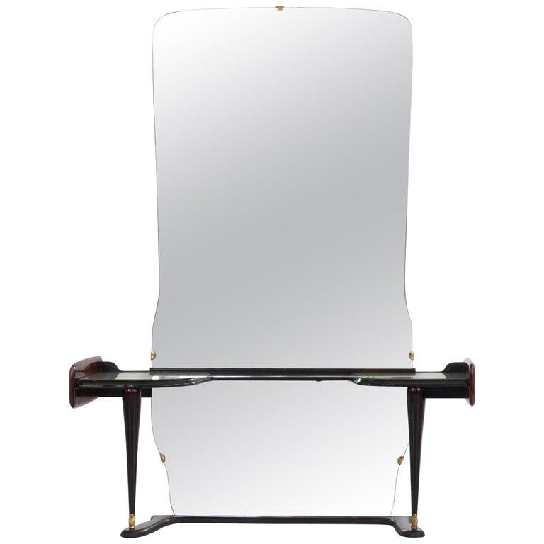 Midcentury Vanity with Large Mirror