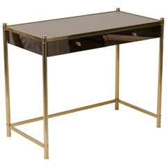 Beautiful Brass and Mirror Dressing or Vanity Table in the Maison Jansen Manner