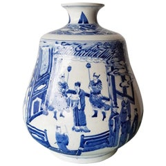 Early 20th Century Hand-Painted Chinese Porcelain Vase