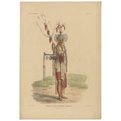 Antique Print with a Native of Timor 'Indonesia' by Temminck, circa 1840