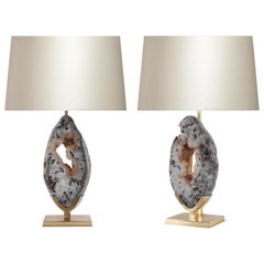 Natural Agate Sculpture Lamps by Phoenix