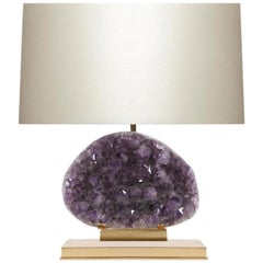 Amethyst Geode Cluster Lamp