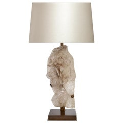 Natural Rock Crystal Sculpture Lamp by Phoenix