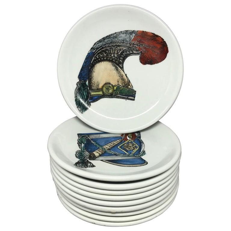 Set of Ten Vintage Italian Porcelain Coasters