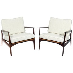 Ib Kofod Larsen Danish Modern Lounge Chairs