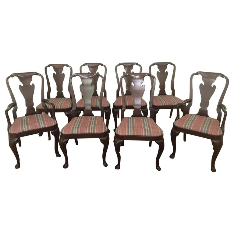 Set of Eight Queen Anne Style Chairs