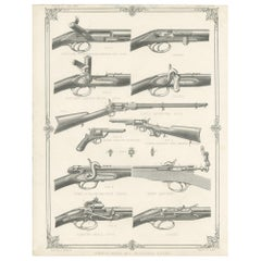 Pl. IV Breechloading and Revolving Rifles by Rapkin, circa 1855