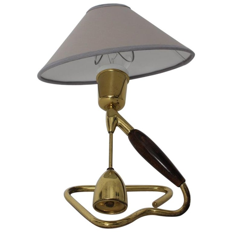 Brass Table Lamp or Wall Lamp by Rupert Nikoll, 1950s, Vienna