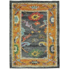New Hand-Knotted Turkish Oushak Rug