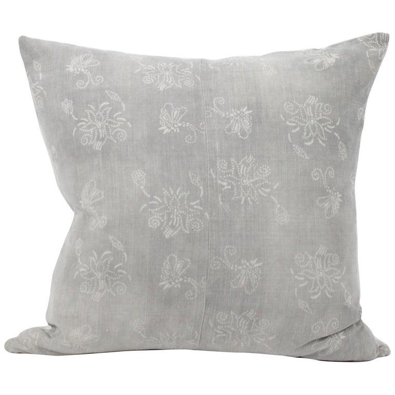 Vintage Grey Batik Style Pillow