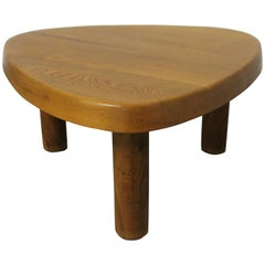Three-Legged Coffee Table by Pierre Chapo