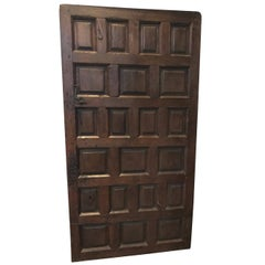 Antique Spanish Oak Door, circa 1750