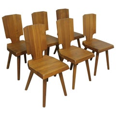 S28 All Wood Chairs by Pierre Chapo